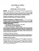 Avviso n°1 difesa 2018