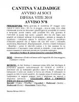 Avviso n°8 Difesa 2018