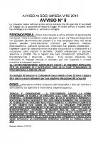 Avviso n. 8 Difesa