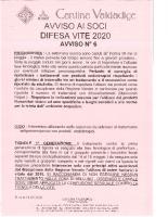 Avviso N° 6 Anno 2020