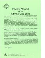 Avviso n° 5 – 2021